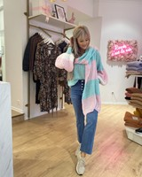 SE Knit Scarf Blue/Pink