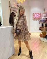ES Dress Short Zebra Jacquard Print