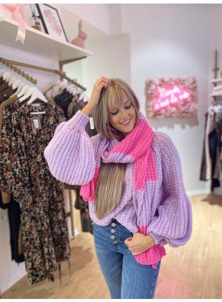 SE Knit Scarf Lila/Pink
