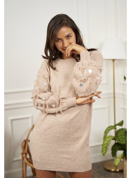 DT Sweater Dress Detail Sleeve