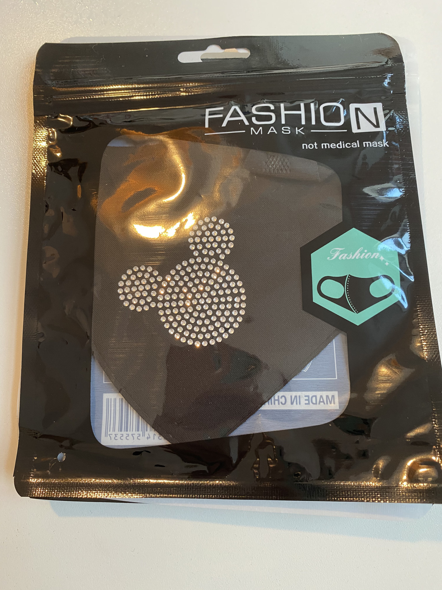 All Time Favourites Fashion Mask Mickey Strass