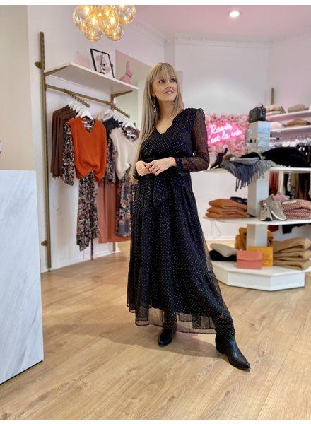 PE Marie Long Black Dress