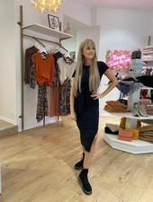 LM Briana Dress Black Long Knot