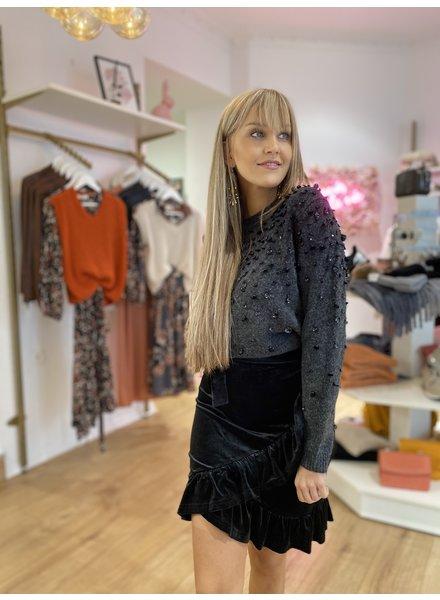 RC Vera Velvet Skirt Black