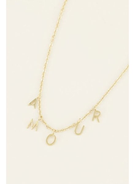 MJ Ketting losse letters amour