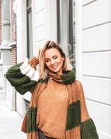 SE Julie knit Camel/Kakhi + Scarf