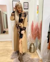 TS Dina Long Coat Camel