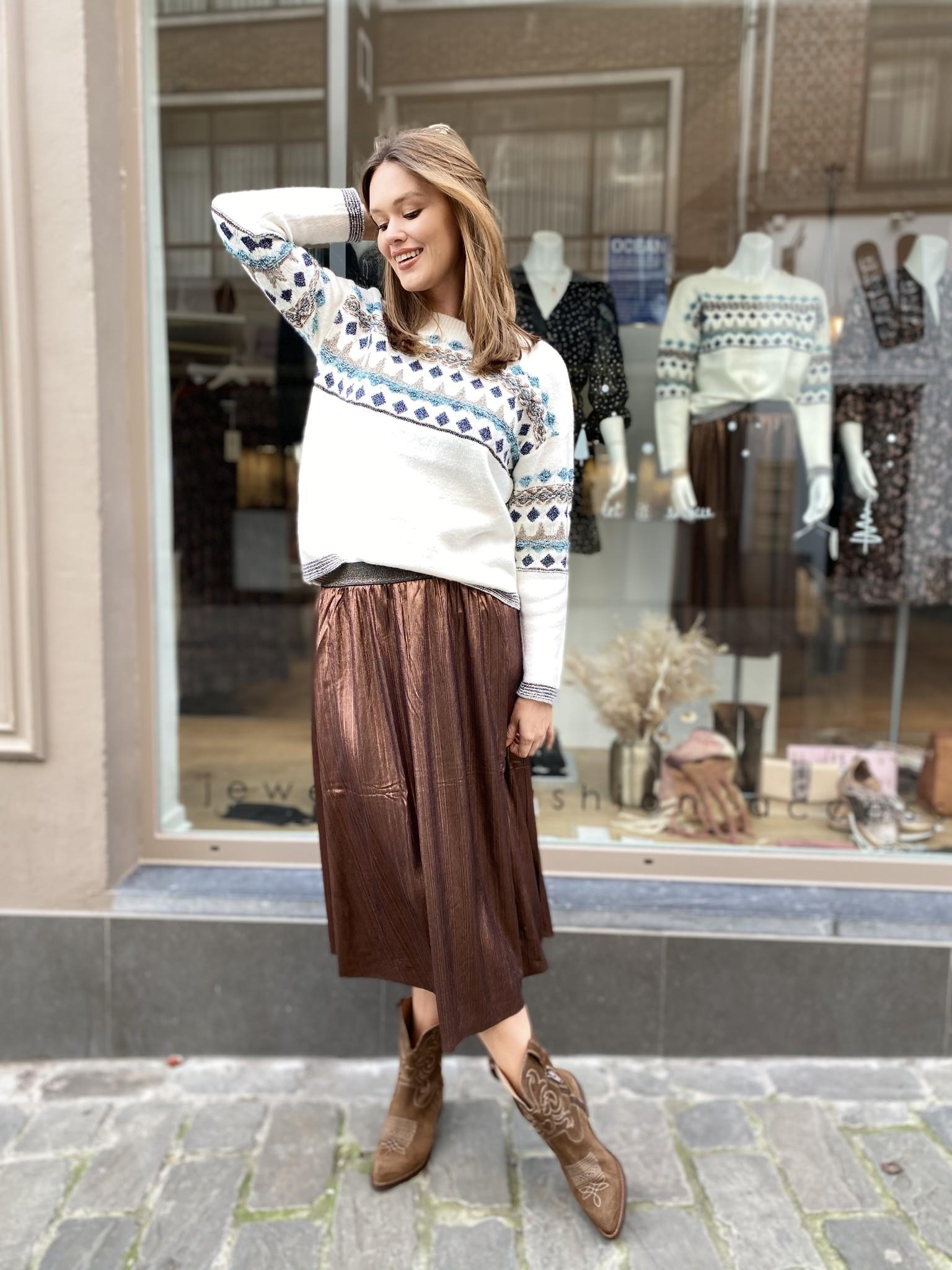 ES Bronze Plisse Skirt