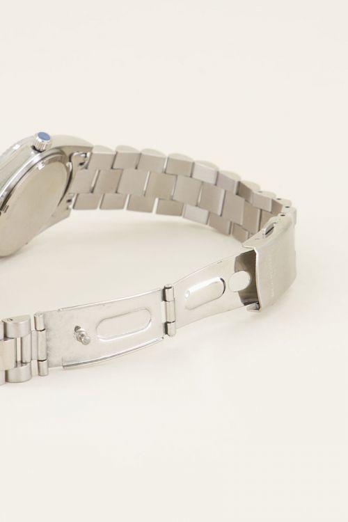 MJ Horloge Mtalen Band Grof Zilver