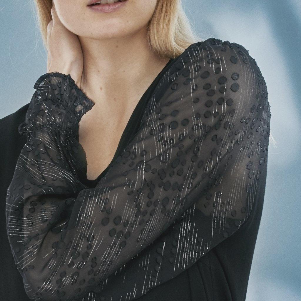 PC Rachelle Dress Black Transparant Sleeve