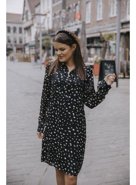 ES Dress Black & White Spots