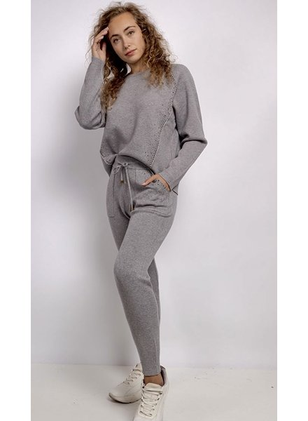 PF Knit Set Grey Strass