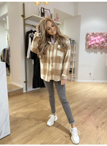 TS Lisa Coat Carreaux Beige