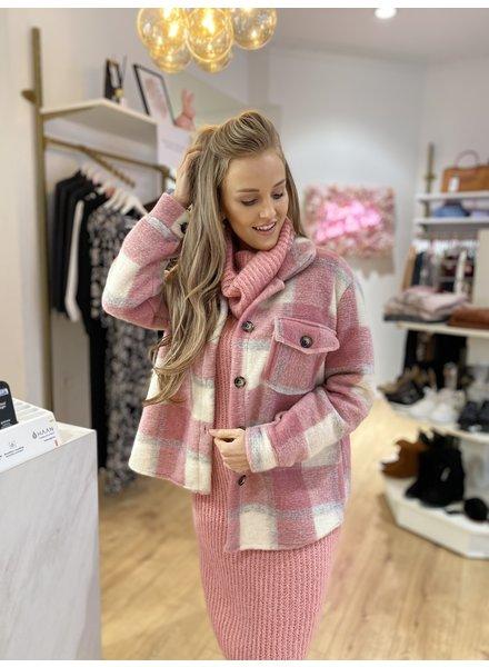 AT Lisa Coat Carreaux Pink