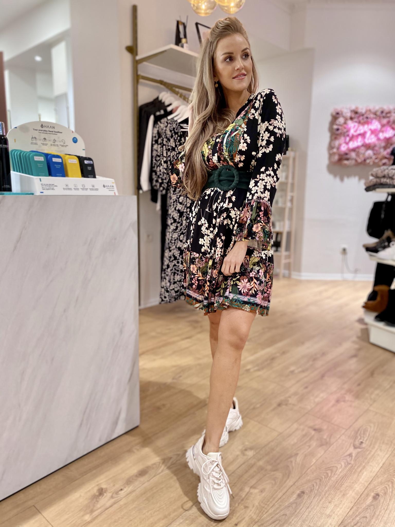 JM Einissa Flower Dress Black