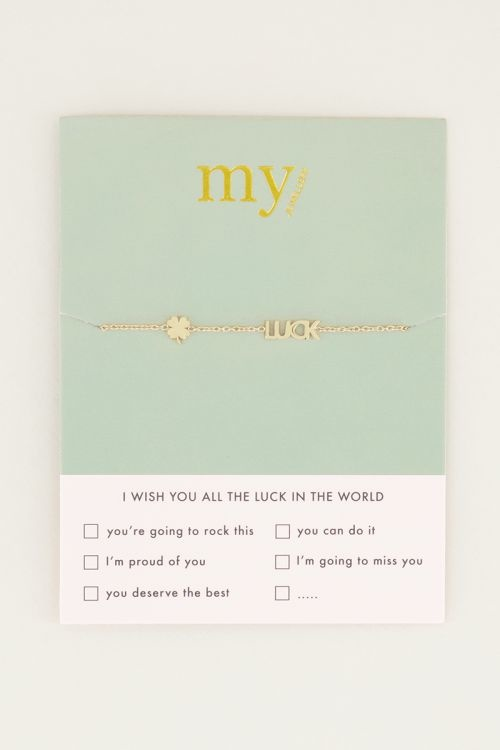 MJ Armband Luck Letters