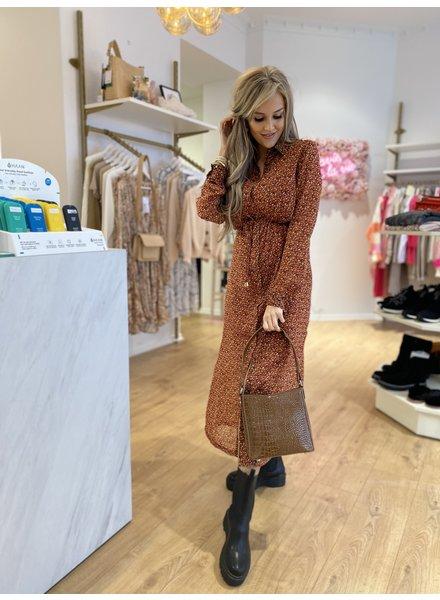 FB Haley Dress Brown Spots