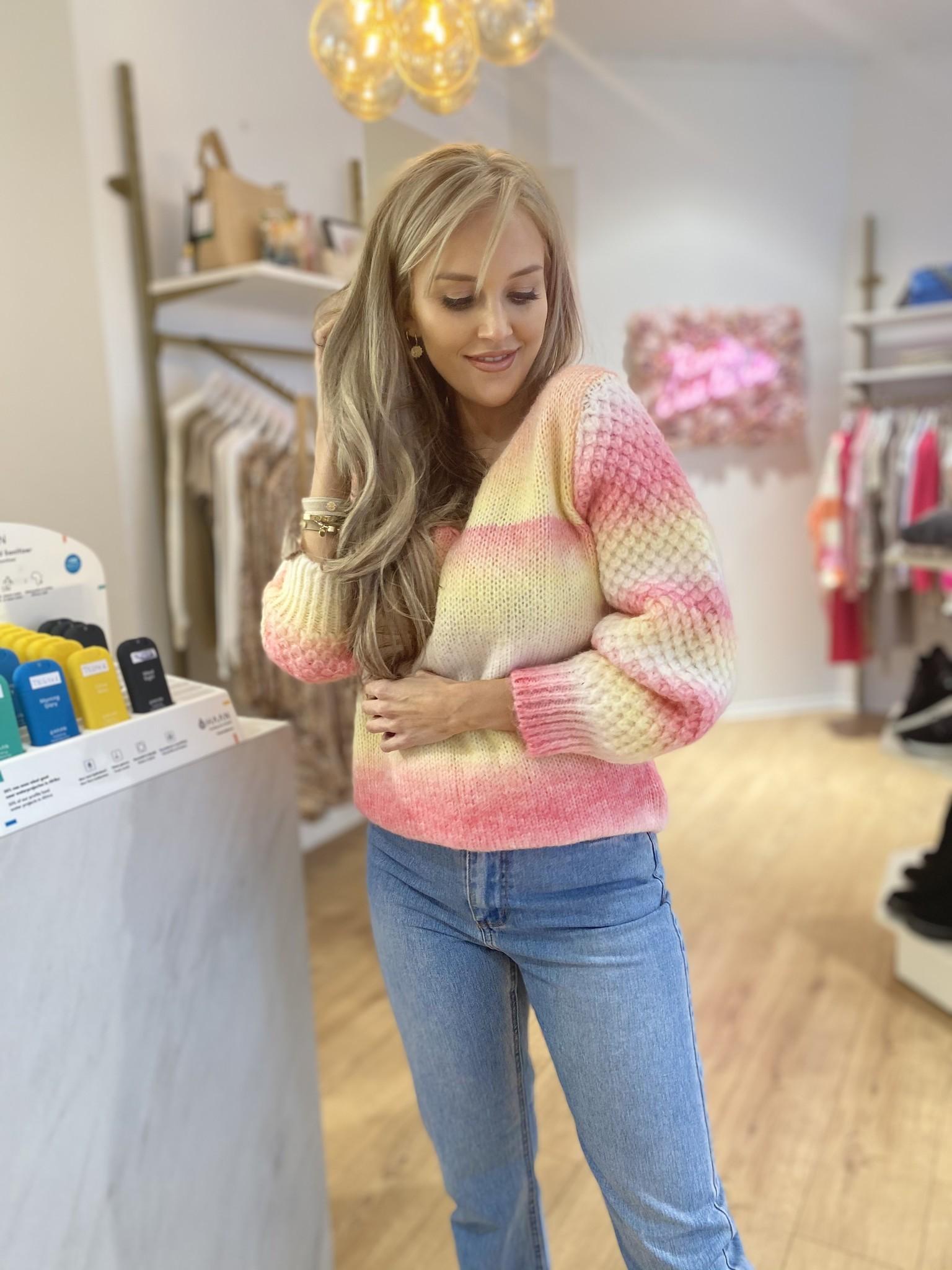 PB Candy Sweater Yellow/Pink