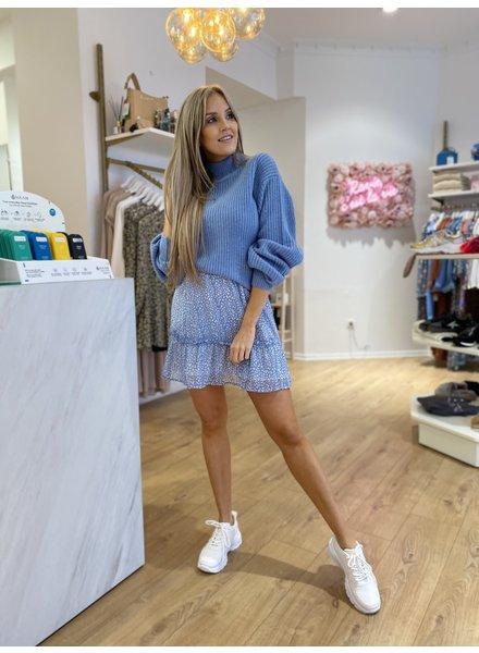 RC Blue Leopard Mini Skirt