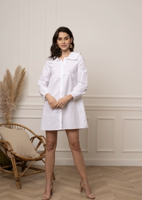 KL Anja Dress White