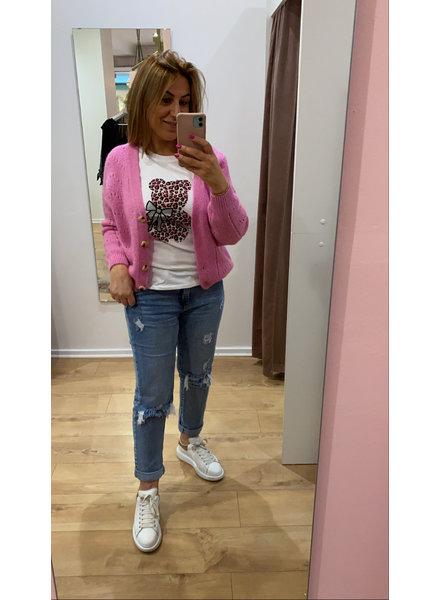 TS T-shirt Bear Fuchsia