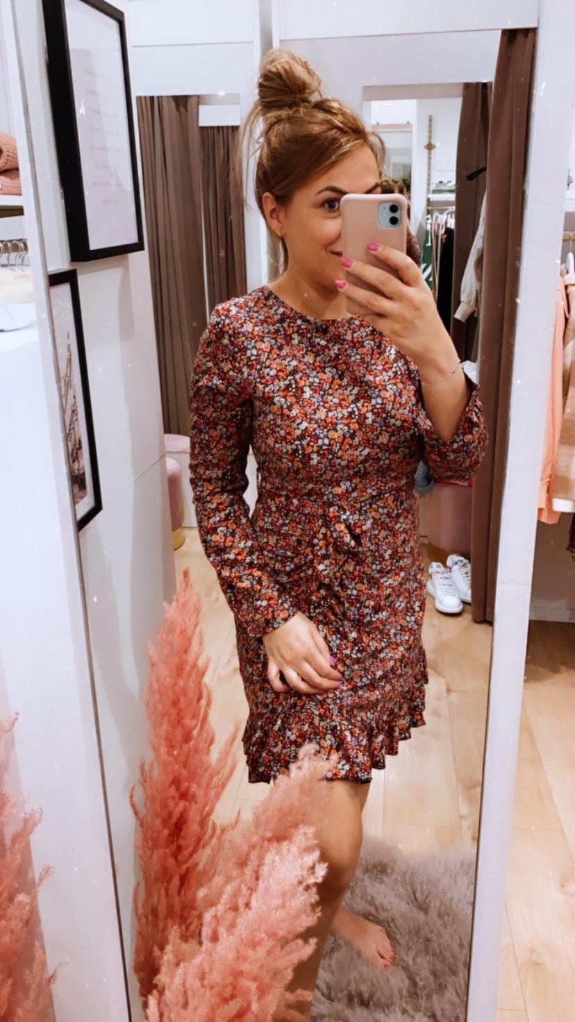 LM Alexa Dress Flowers Peach