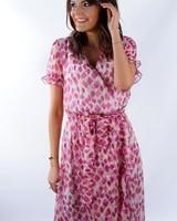 YENTLK Pink Leaf Dress