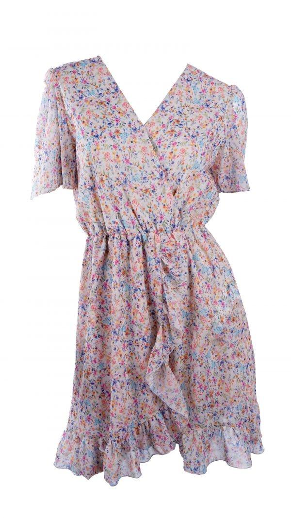 YENTLK Ecru Dress Flowers