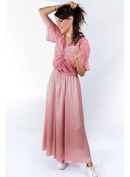 YENTLK Satin Skirt Blush