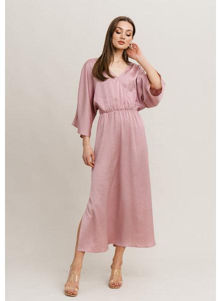 RC Kylie Satin Dress Blush Pink