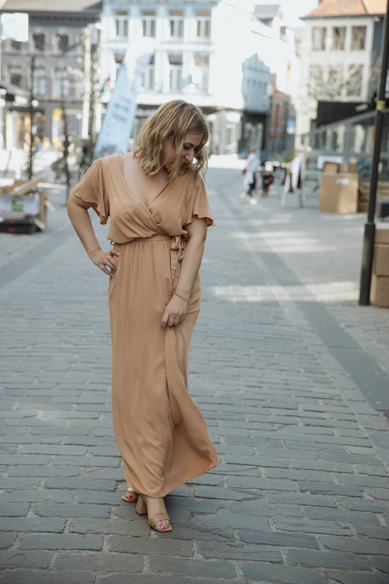 FB Anna Caramel Maxi Dress