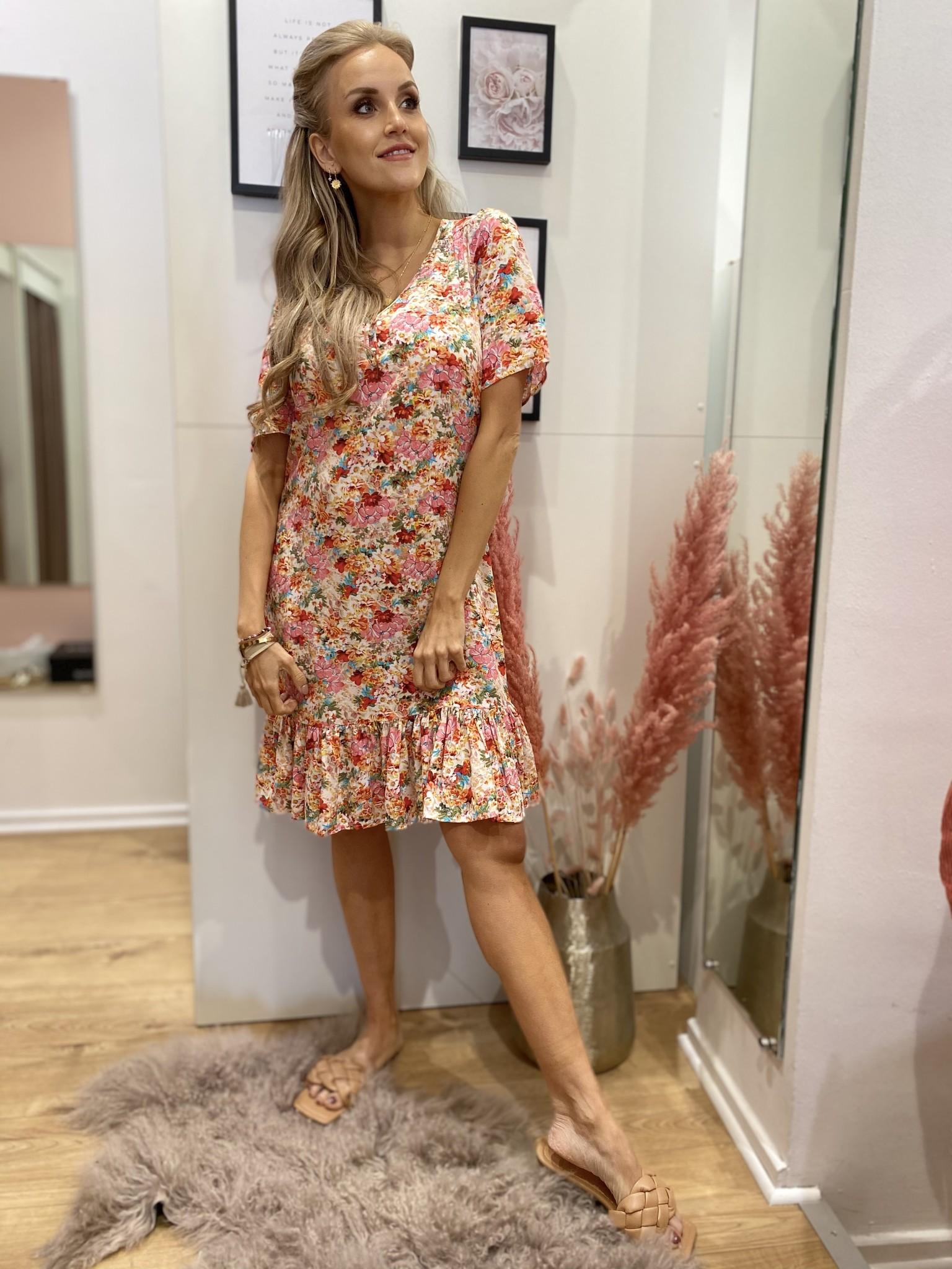 ES Dress V-Neck Garden Flower