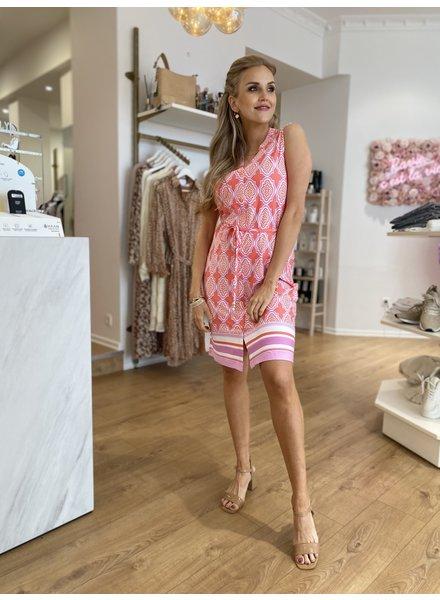 ES Dress Print Pink/Lila/White