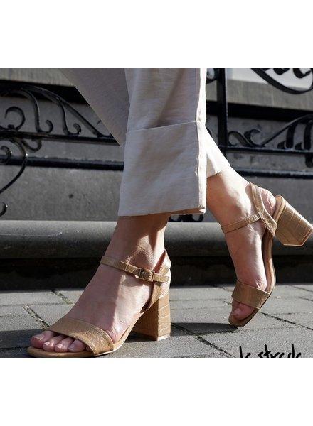LS Sandaaltjes Croco Beige