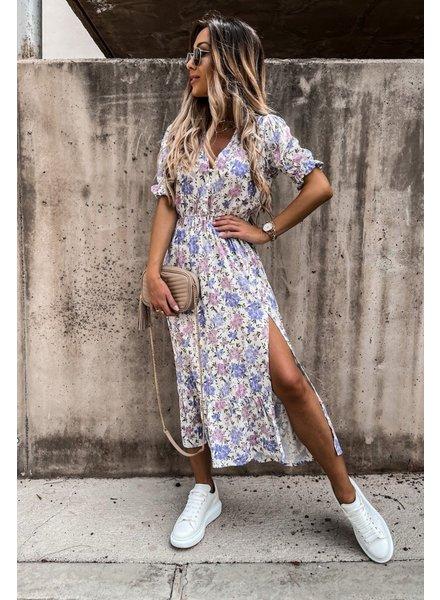 TS Eleisa Dress Lila/White