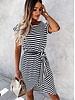 TS Casual Chic Dress Stripes Black