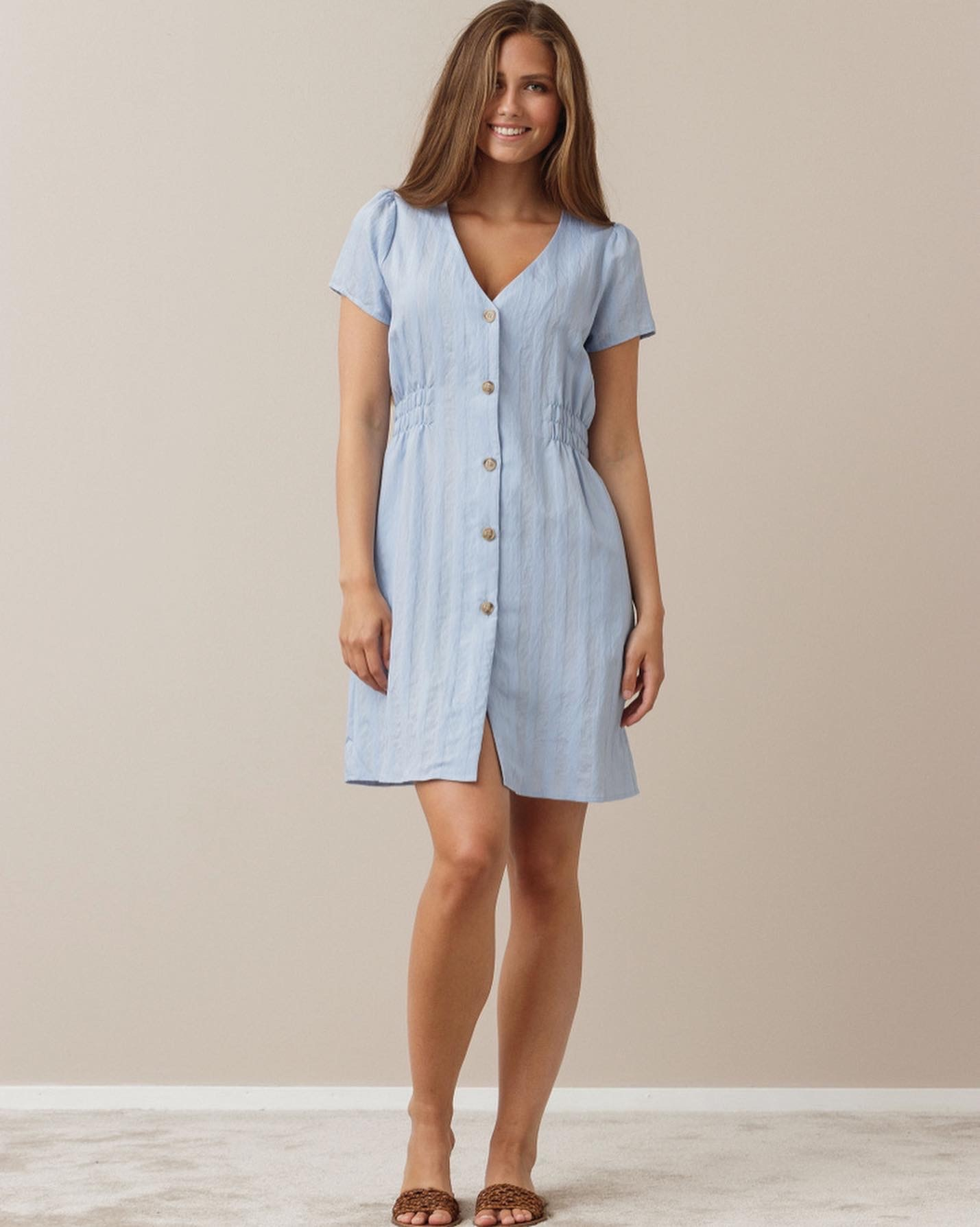 TS Effie Dress Blue Jacquard