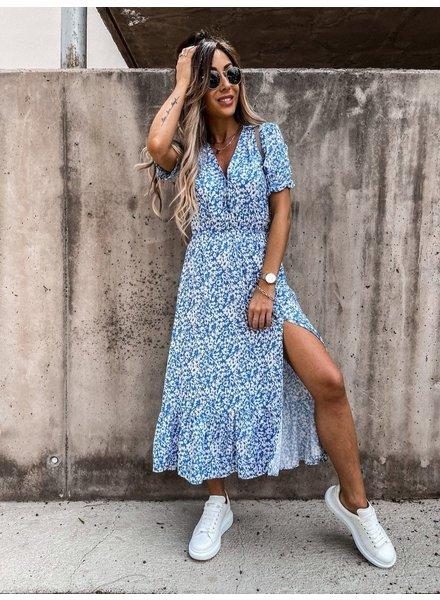 TS Eleisa Dress Blue Print