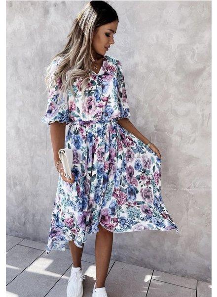 TS Eloïse Dress Flowers Lilac