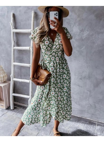 TS Larissa Dress Daisy Flower Green