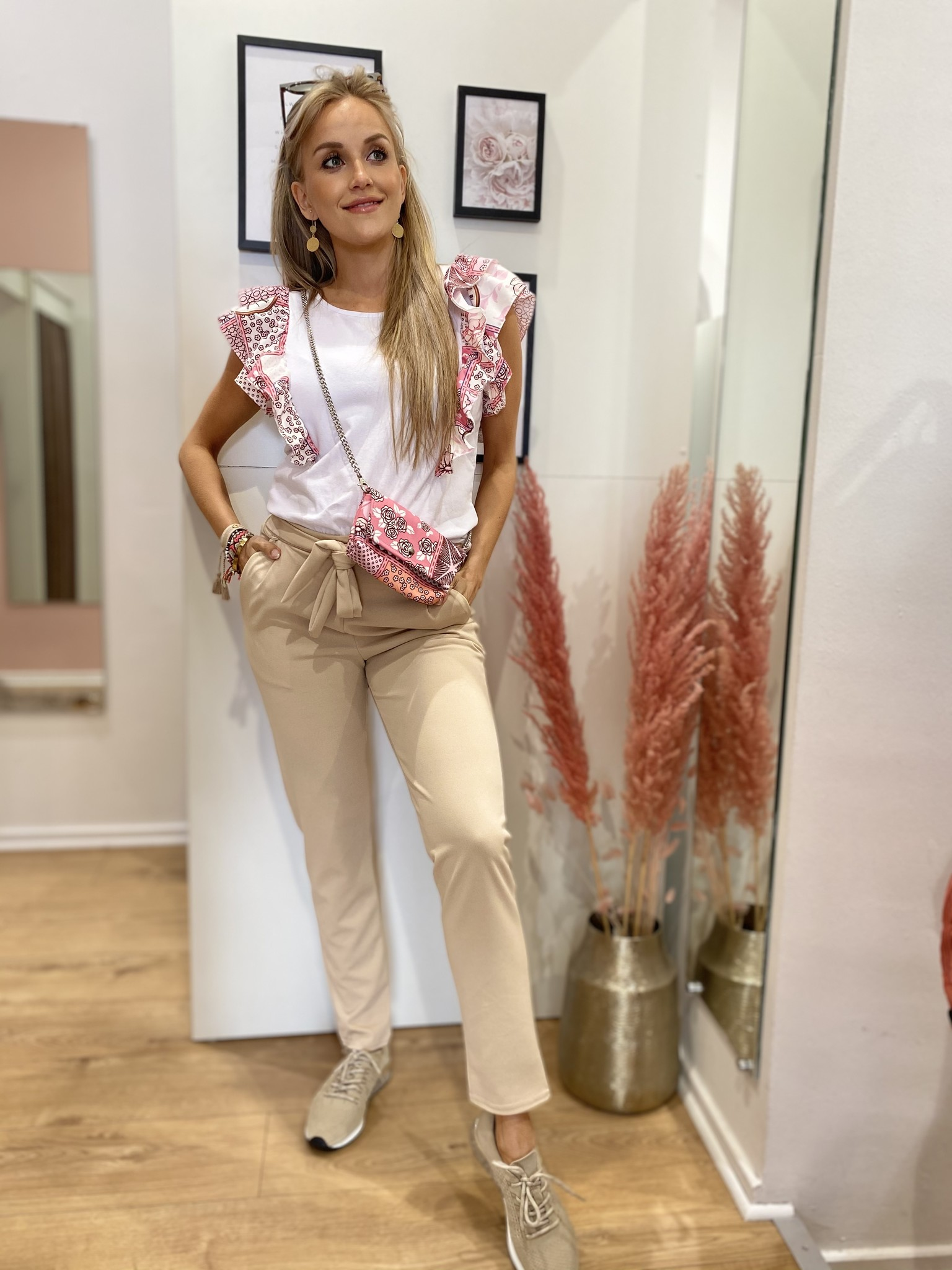 TS Casual Chic Suit Beige