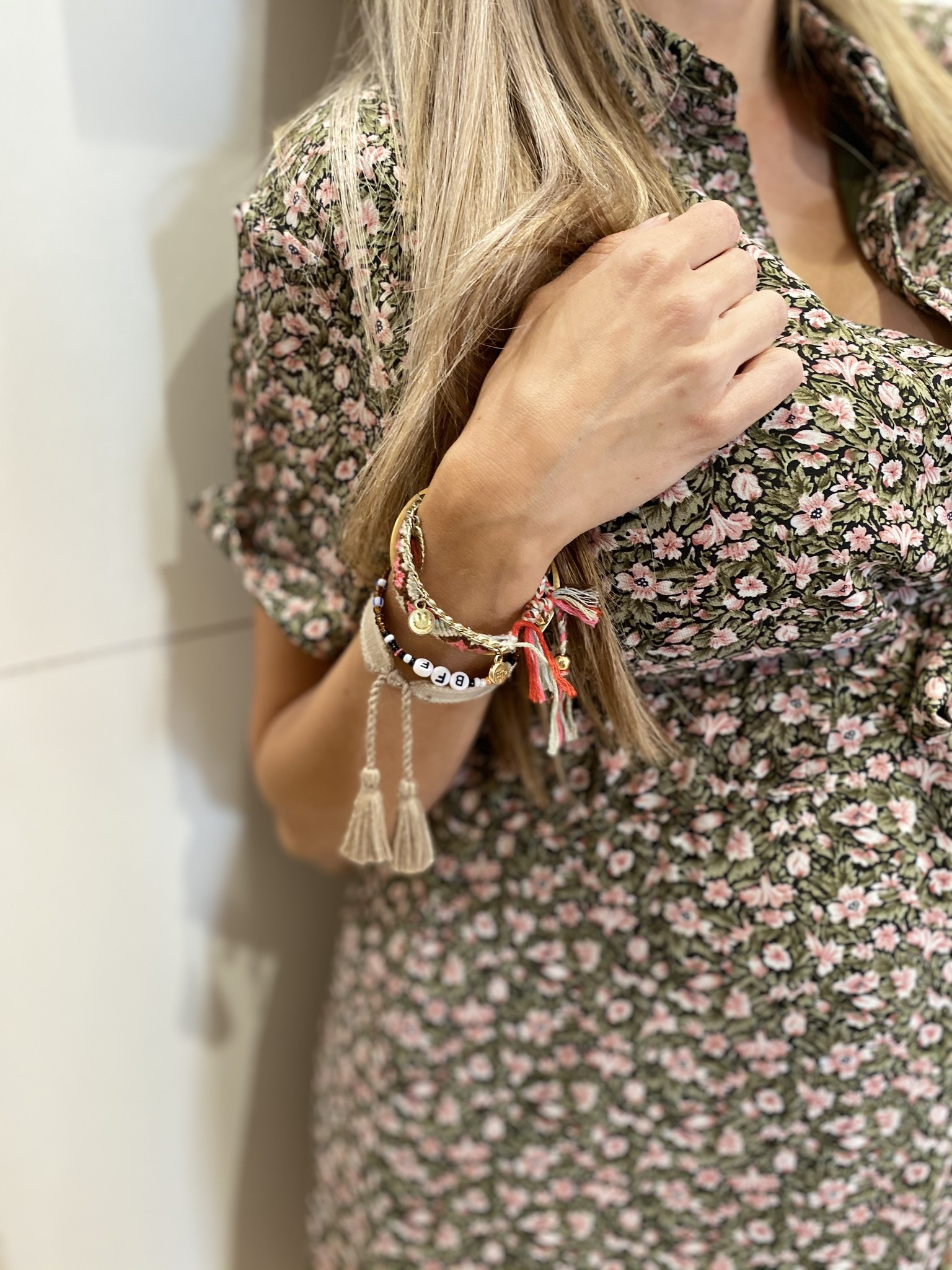 LM Florine Dress Green/Pink