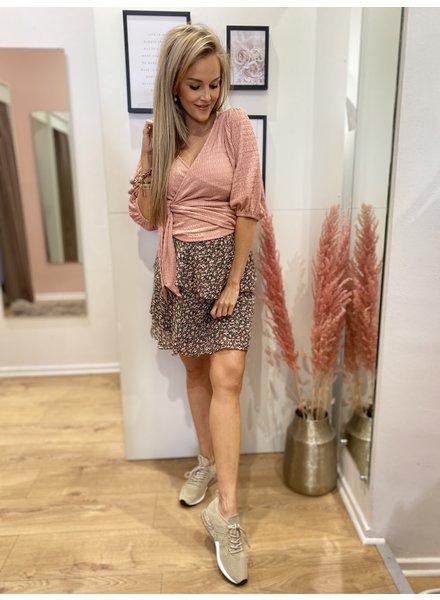 LM Skirt Alyssa Green/PInk