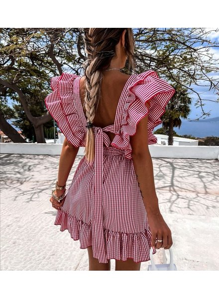 TS Britney Dress Stripes Corail