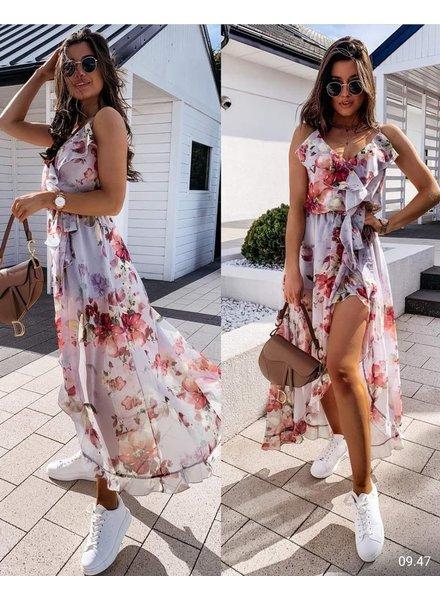 TS Split Dress Flowers