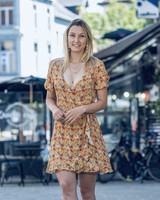 TS Colour Spot Wrap Dress
