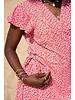 TS Leo Wrap Dress Fuchsia