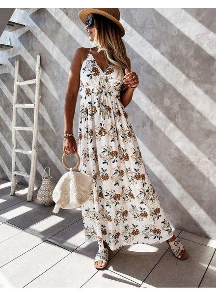 TS Laure Dress Flower Print White