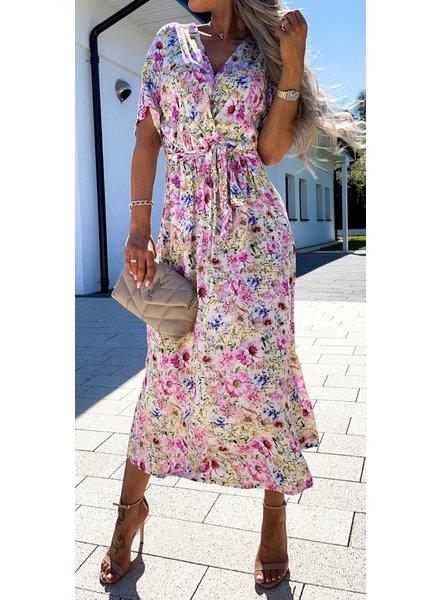 TS Long Summer Dress Flowers
