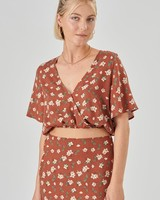 24 Cropped Blouse Flower
